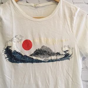 Jcrew great wave t-shirt. Beautiful, wearable art